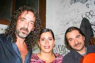 El cantaor Fernando Gallego, el bancalero, la bailaora Rossana Dion y el guitarrista José Vega