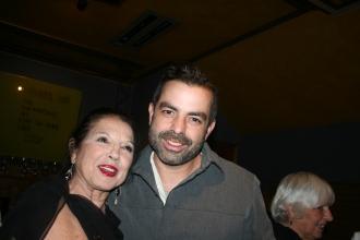 Sonia del Río y su hijo