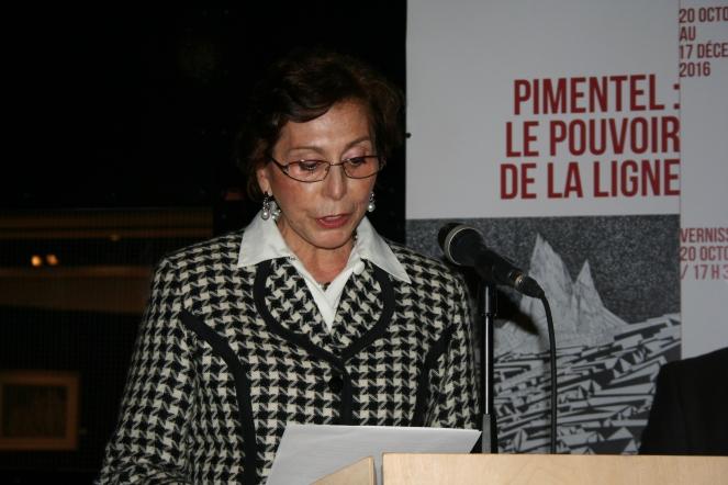 Embajadora Marcela López Bravo en la ceremonia de homenaje al Arquitecto-Restaurador, Víctor Pimentel. Foto: Patricia Morales Betancourt