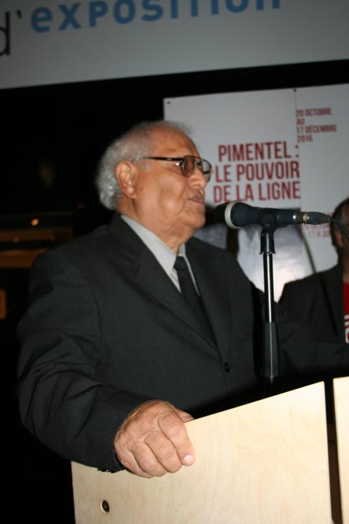 Arquitecto-REstaurador Víctor Pimentel agradeciendo al público. Foto: Patricia Morales Betancourt