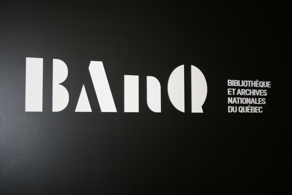 Logo de la Gran Biblioteca. Foto: Patricia Morales Betancourt