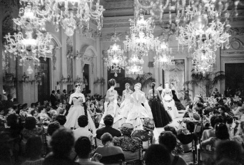 Fashion Show in Sala Bianca Pitti Palace florence, 1955
