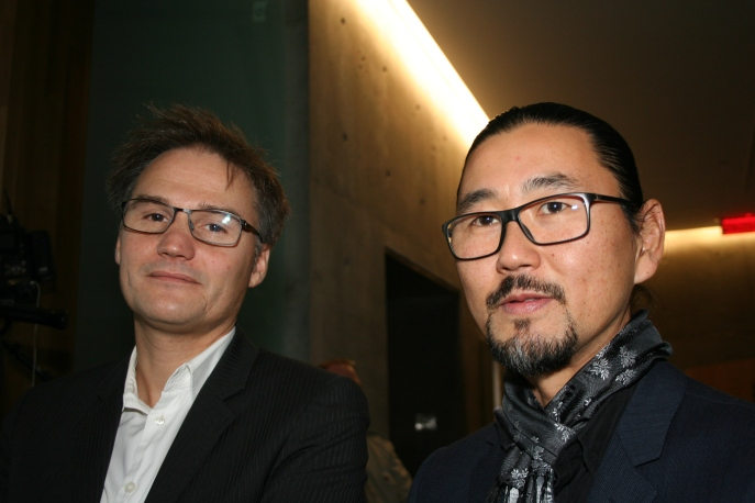 Arquitectos Nicolas Ranger y Katsuhiro Yamasaki. Foto: Patricia Morales Betancourt