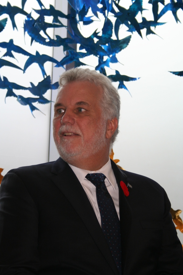 Philippe Couillard, primer ministro de Quebec. Foto: Patricia Morales Betancourt